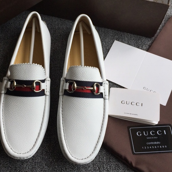 White Gucci Loafers NWT